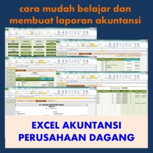 excel akuntansi perusahaan dagang