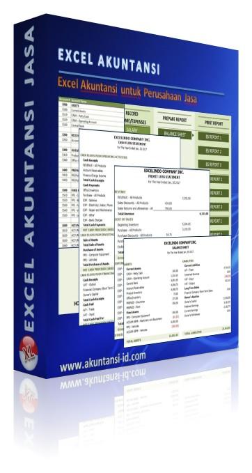 Excel Akuntansi Perusahaan Jasa