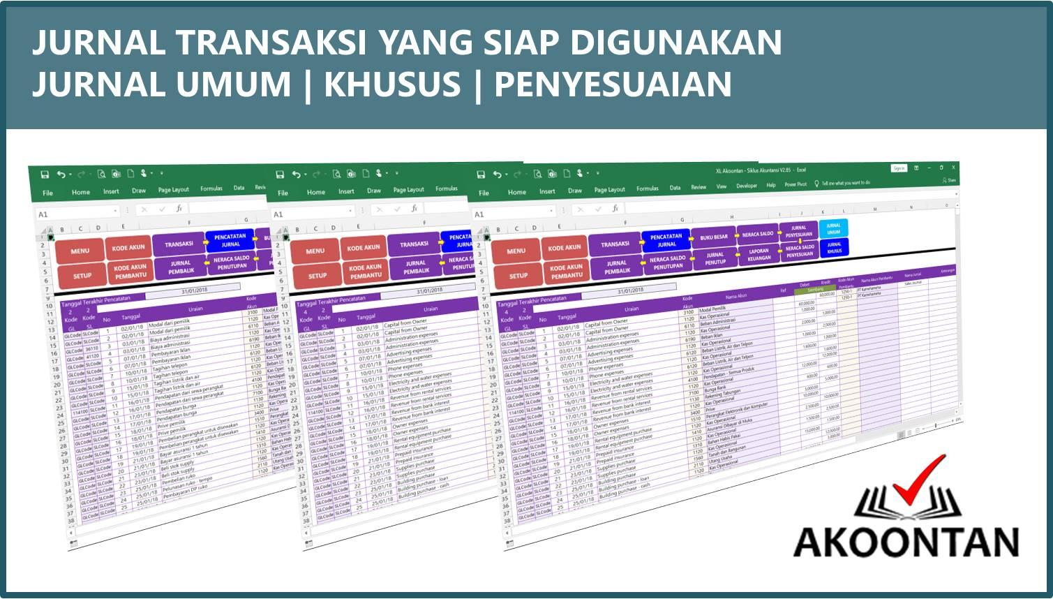 Akuntansi-ID - Excel Siklus Akuntansi - Jurnal