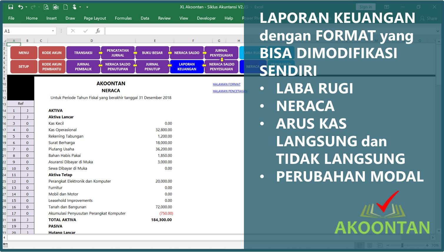 Akuntansi-ID - Excel Siklus Akuntansi - Laporan