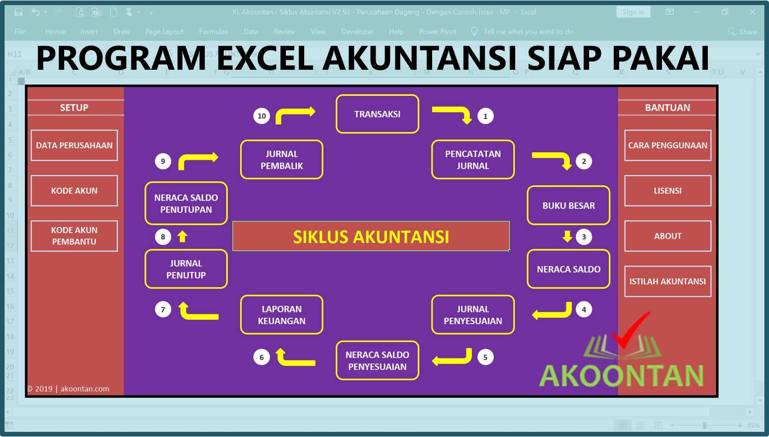 Akuntansi ID - Excel Siklus Akuntansi - Menu