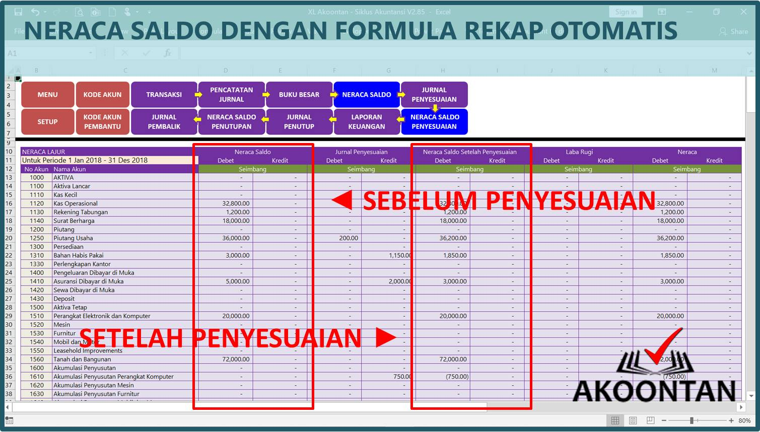 Akuntansi-ID - Excel Siklus Akuntansi - Neraca Saldo