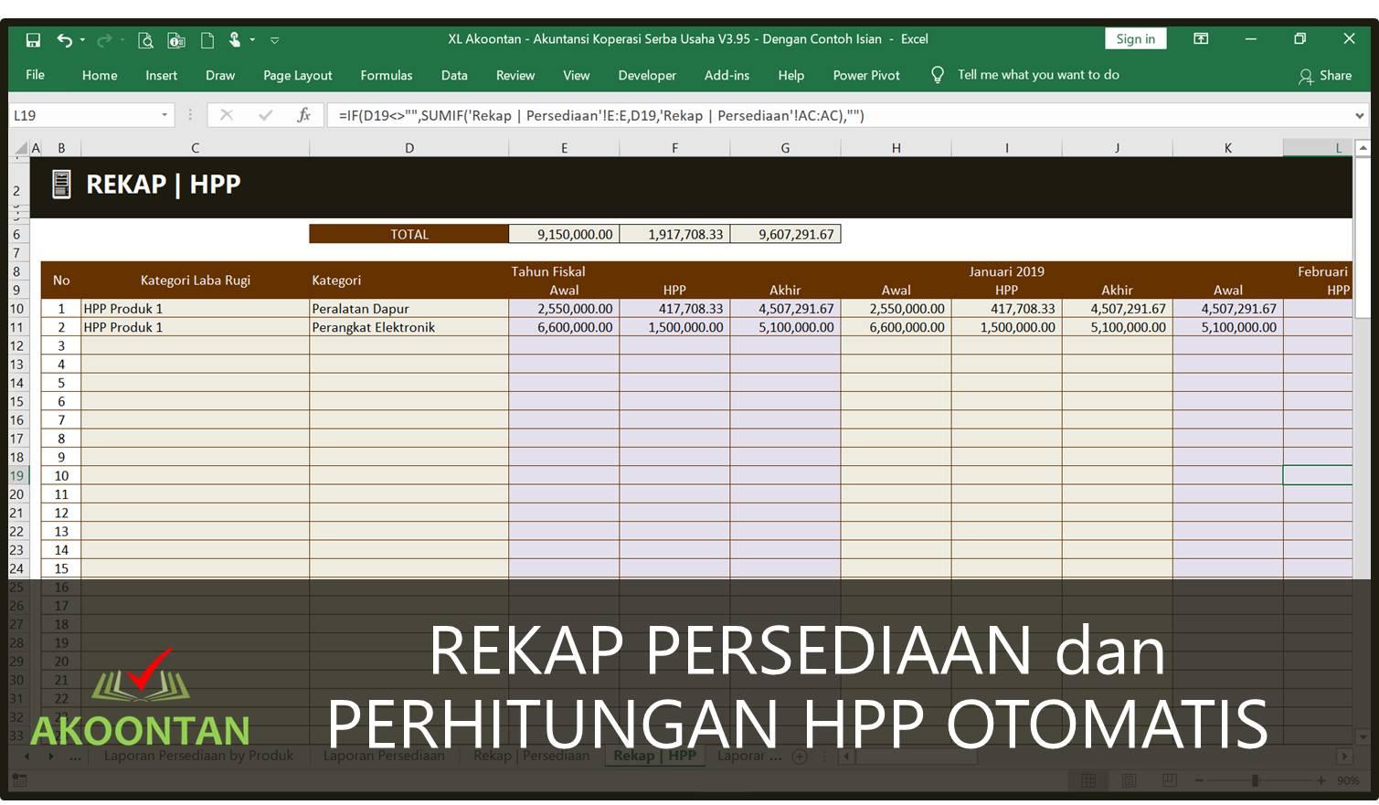 Koperasi Konsumsi - Perhitungan HPP Otomatis