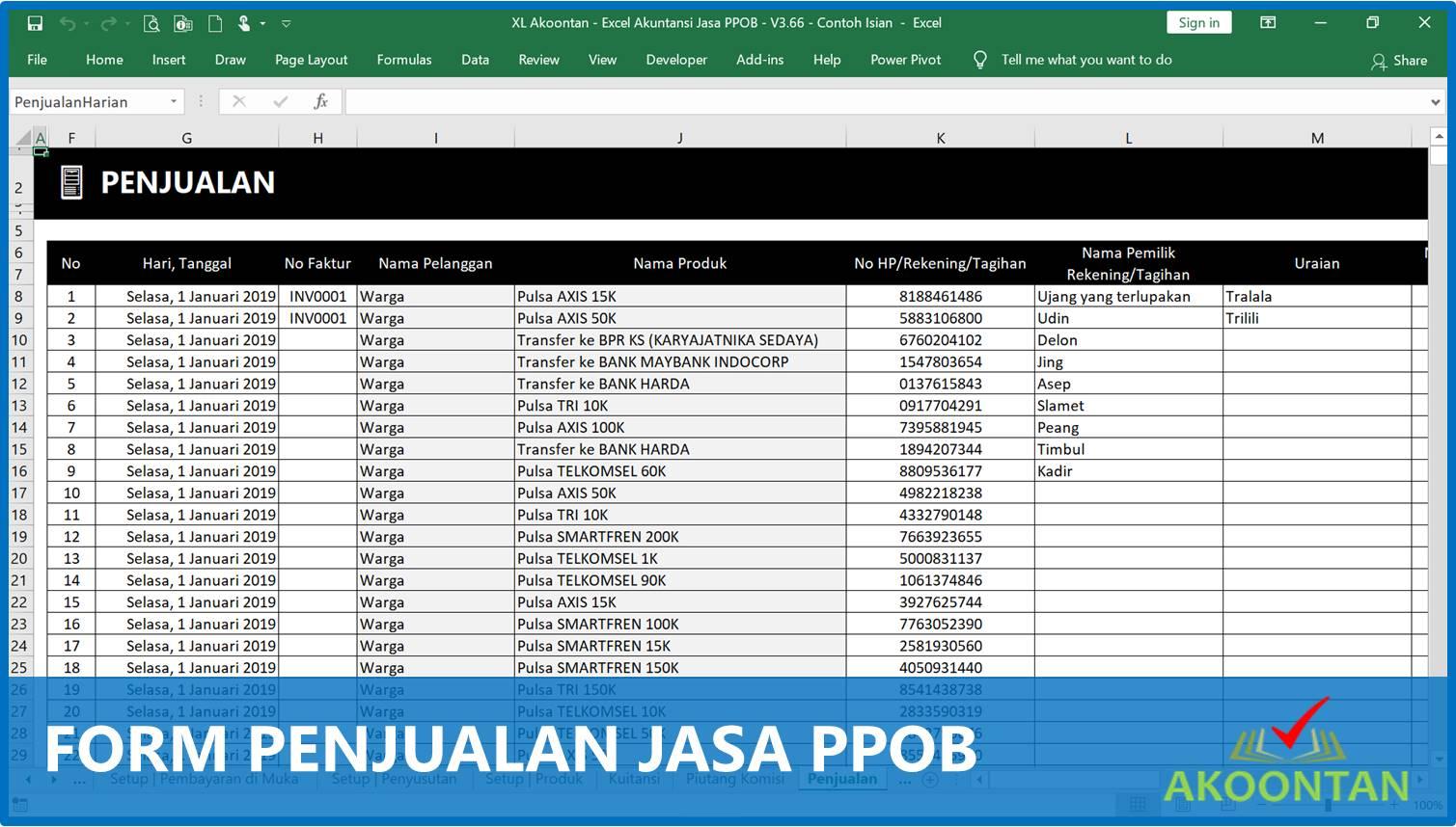 Akuntansi-ID - Form Penjualan Jasa PPOB