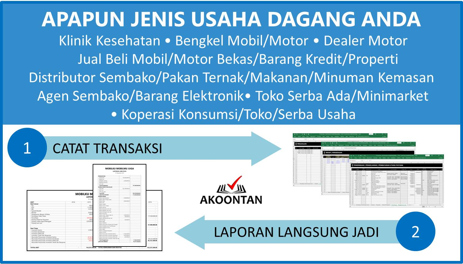 Aplikasi Akuntansi Awam untuk Perusahaan Dagang