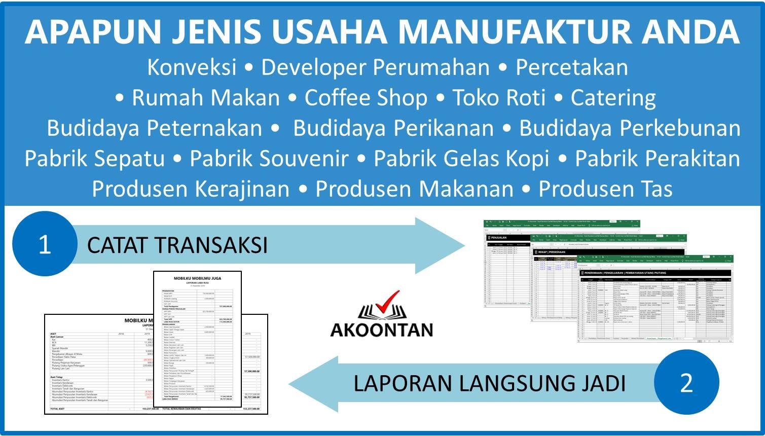 Aplikasi Akuntansi Awam untuk Perusahaan Manufaktur