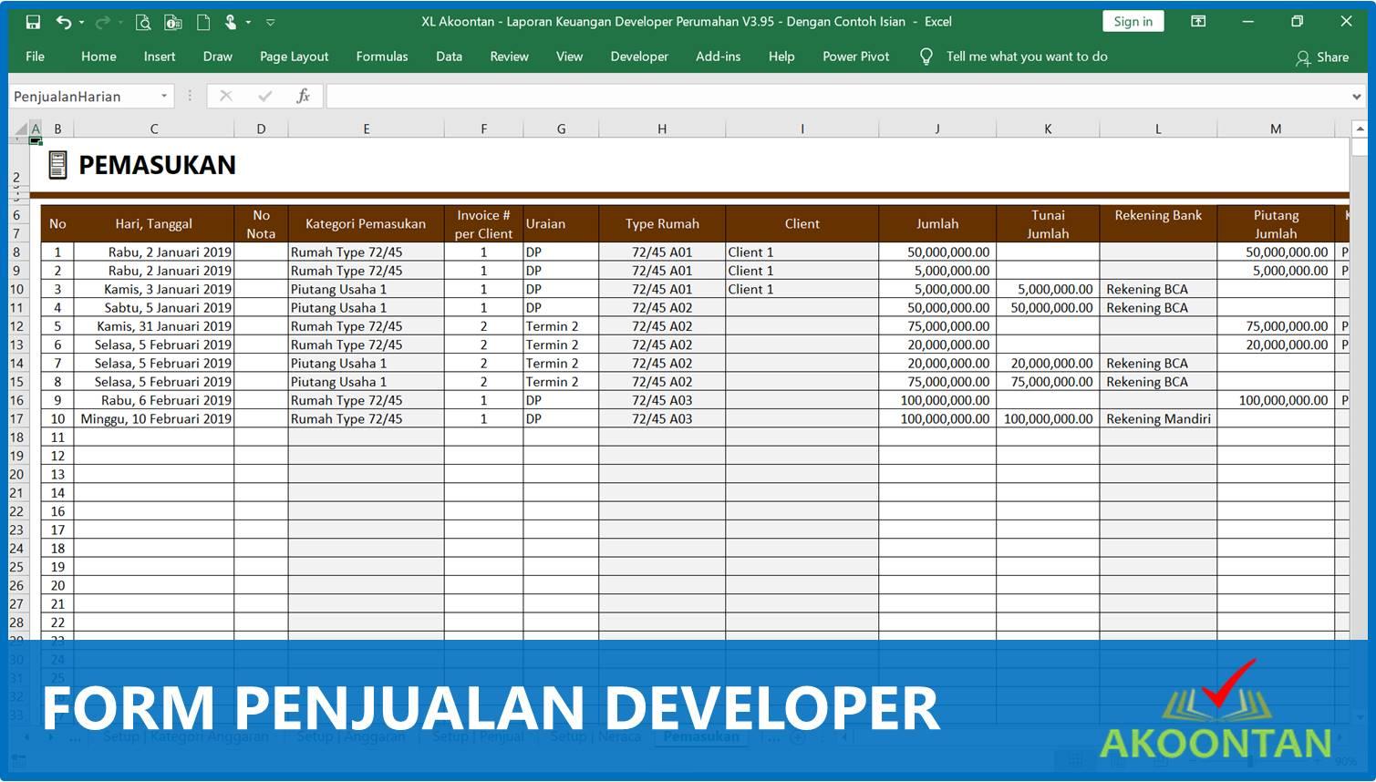 Form Penjualan Developer Perumahan - Akuntansi-ID