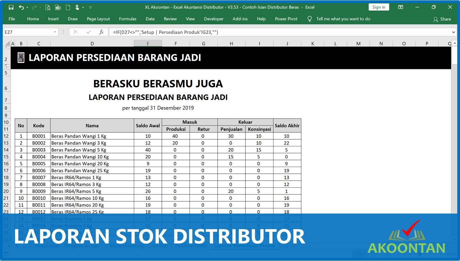 Laporan Stok Distributor - Akuntansi-ID